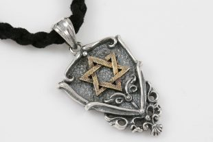 Shield With Star of David Silver Pendant PT-071