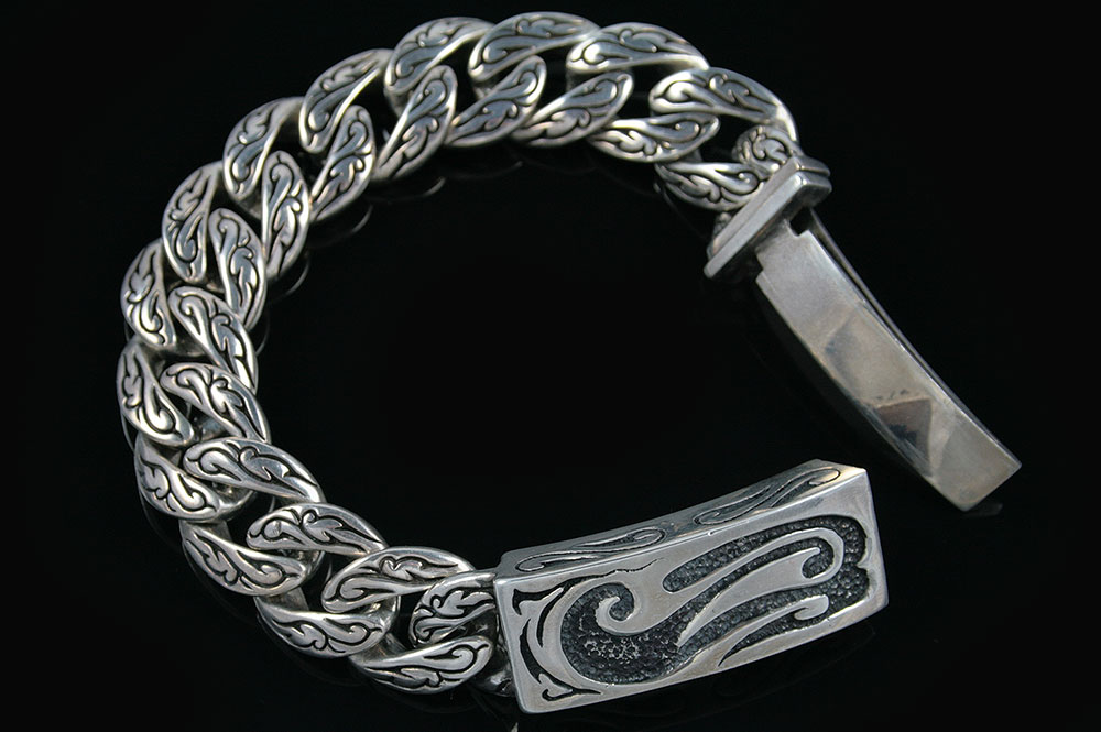 Spartan Historic Symbolic Luxurious Silver Bracelet BR-007