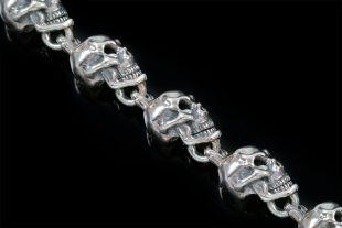Twisted Skull Chain Sterling Silver Bracelet BR-014