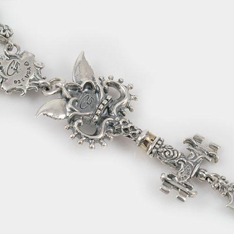 Underworld Keys of Hades Greek Gothic Silver Necklace N-005