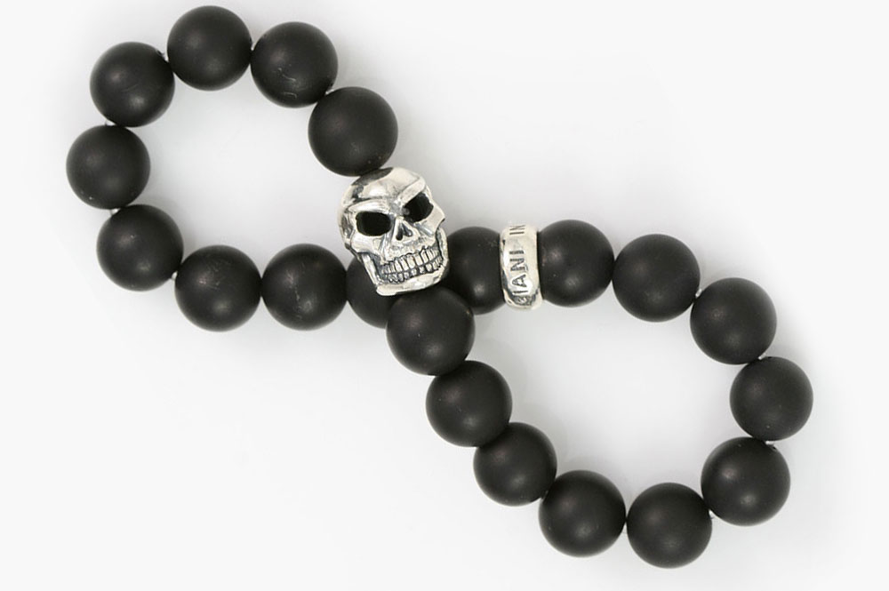 men silver amazon s black onyx sterling beads dp and com matte bracelet