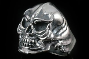 Warrior Skull Silver Ring MR-006